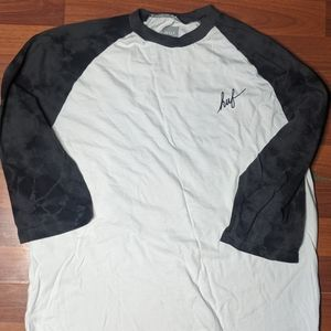 HUF 1/2 Long Sleeve Mens Sz Small Two Tone